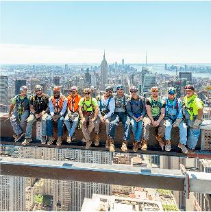 crew on beam